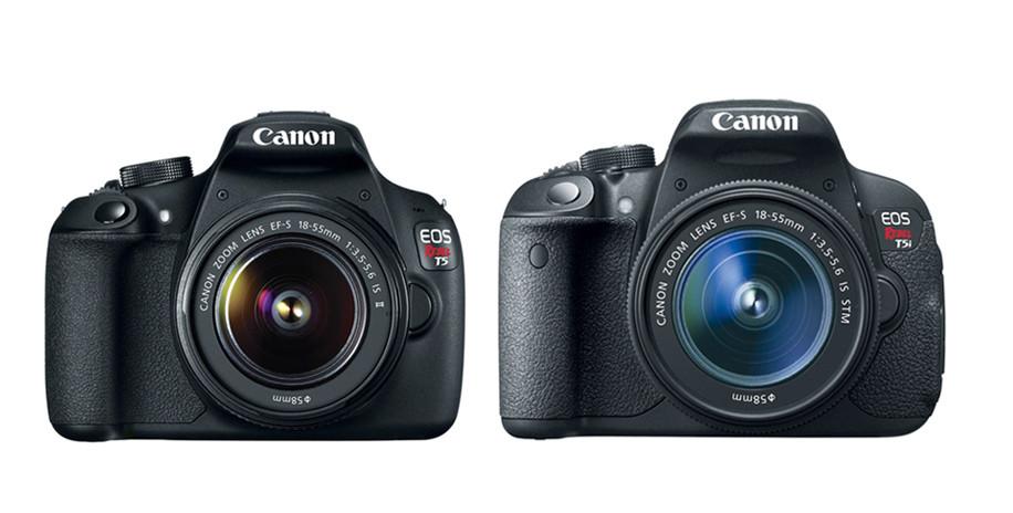 Resultado de imagem para canon t5 vs t5i