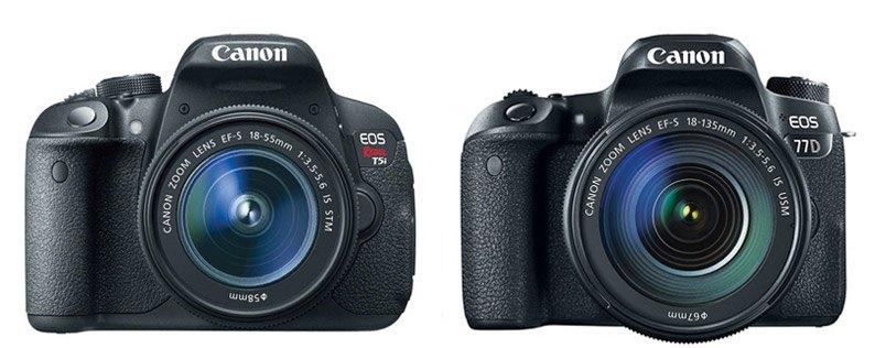 Canon T5i vs Canon 77D – Comparison | Smashing Camera
