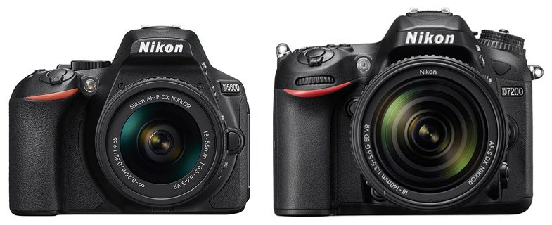Nikon D5600 vs Nikon D7200 – Comparison | Smashing Camera
